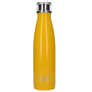 BUILT Perfect Seal Vacuum Insulated Bottle - Stalowy termos próżniowy 0,5 l (Yellow)