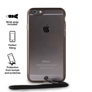 PURO Clear Cover Easy Photo - Etui iPhone 6s / iPhone 6 + smycz (czarny)