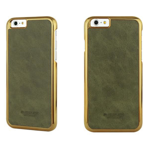 BUSHBUCK BARONAGE Classical Edition - Etui skórzane do iPhone 6s / iPhone 6 (oliwkowy)