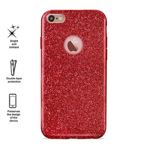 PURO Glitter Shine Cover - Etui iPhone 6s / iPhone 6 (Red Love) Limited edition